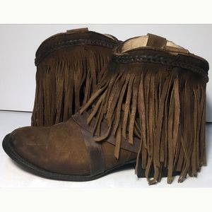 FREEBIRD Dallas Brown Leather Cowgirl Boots Size 9